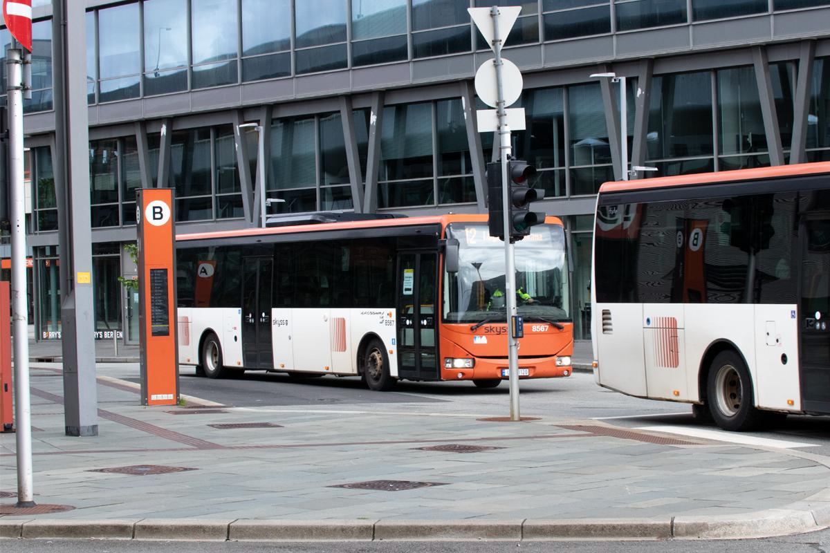 Buss illustrasjonsfoto bergen